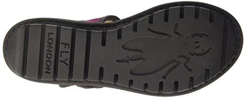 FLY London KISH603FLY Damen Durchgängies Plateau Sandalen Purple (Magenta/Black)