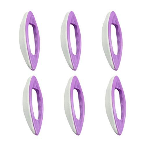 Lurrose 6 stücke pediküre maniküre nail art poliert werkzeuge schafe leder nail art polieren pediküre maniküre poliert wachsmaschine für mädchen frau dame frauen -