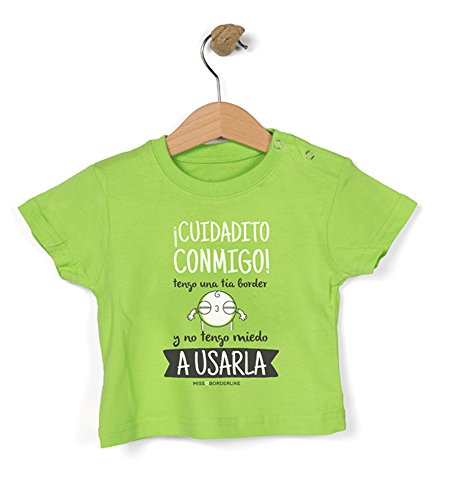 Missborderlike - Camiseta manga corta 6 a 12- ¡cuidado conmigo! tengo
