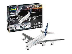 Revell GmbH 00453 Airbus A380-800 Technik Kit de Modelo de plástico con electrónica y Sonido, Color Blanco, 1:144