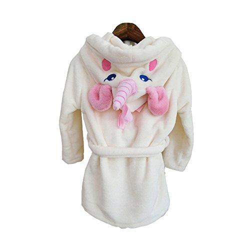 inhorn Bademantel Tier Karikatur Kapuze Bademäntel Morgenmäntel Nachtwäsche Cosplay Kostüm Pyjama (S) (Einhorn Kostüm Baby)
