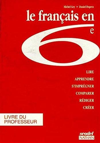 Scodel : le Français en 6e, professeur, édition 1994