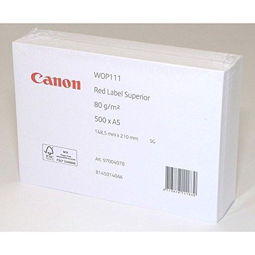 Canon 97004078 Carta per Fotocopiatrice/Stampante, Formato A5, 80 G/Mq, A5