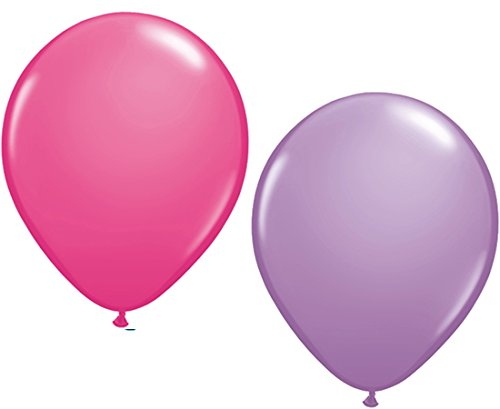 x dunkel pink & lila Partyballons 27 cm Ø (Dunkel Lila Luftballons)