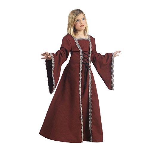 Mittelalter Lady Margrit Kinderkostüm Mittelalterkleid für Mädchen bordeaux - 7/9 (Renaissance Kostüme Kind Girl)