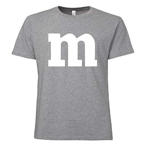 (ShirtWorld - Fasching und Karneval Kostüm für Paare und Gruppen - Herren T-Shirt Grau Melange XL)