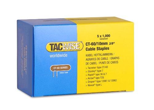 Tacwise 0354 Grapas cables galvanizadas puntas divergentes