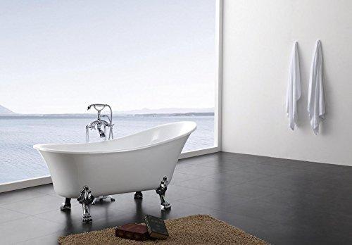 Freistehende Badewanne PARIS ACRYL BS-830 176x71 weiß inkl. Ab/ Überlauf
