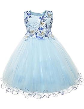 Cielarko Vestidos Fiesta para Niña con Mariposa Bordado Ropa