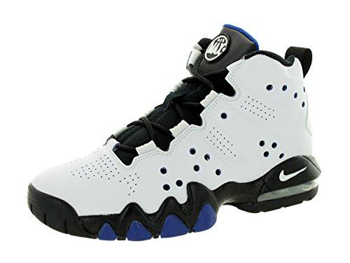 Nike Air Max Bambini Barkley (gs) Bianco / nero / Old Royal scarpa da basket 5 bambini siamo White/Black/Old Royal
