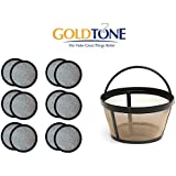 Goldtone Brand 8-12 Cup Permanent Mr. Coffee Basket-Style Coffee Filter & Set Of 12 Water Filters For Mr. Coffee Coffee Maker And Brewer