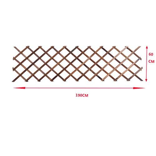 MILUCE Antiseptic Wood Wandverzierung Flower Rack, kann Hang Korb, kann Klettern Rattan, Balkon Massivholz Hanging Flower Pot Rack, 5 Größen Optional ( größe : 190cm )