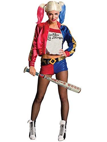 Mazza da baseball gonfiabile bastone di Harley Quinn Suicide Squad Margot Robbie. ATTENZIONE: SOLO LA MAZZA DA BASEBALL. COSTUME, PARRUCCA ED ACCESSORI NON INCLUSI