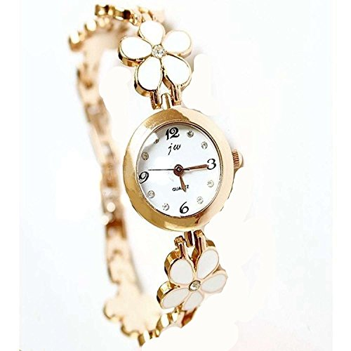 familizo-women-four-leaf-clover-rose-gold-bracelet-wrist-watch-women