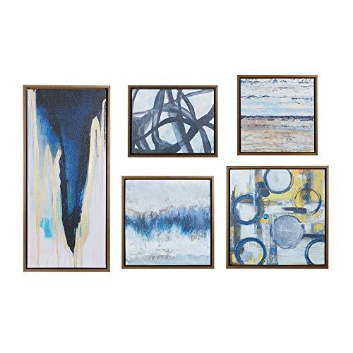 Madison Park Blau Bliss Blau Grau gerahmt auf Leinwand, 19.6x 19.63Stück Multi Panel, Neuheit Moderne zeitgenössische Wand Décor -