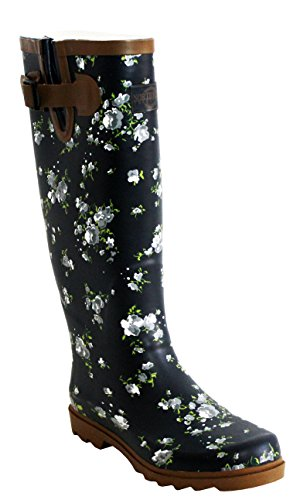 Ladies Womens Northwest Territory Adjustable Calf Waterproof Rubber Festival Rain Mud Snow Girls Wellington Boots Wellies UK Sizes 4-9