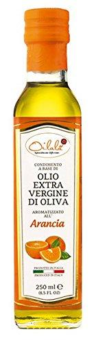 Olio extra vergine di oliva aromatizzato all'arancia – 250ml