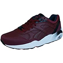 eb43e72487b9c0 Puma R698 Leather Burgund Leder Herren Sneakers Schuhe Trinomic