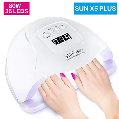 LJUNSEG secador uñas 54W / 80W UV LED Lámpara 36