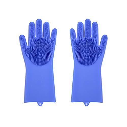 Saniswink 1 Paar Silikon Geschirrspüler Schrubber Wasserdichte Haushaltspflege Reinigungshandschuhe fügen Sie Ihrem Leben ein Einheitsgröße (Schaum Gummi Kostüm)