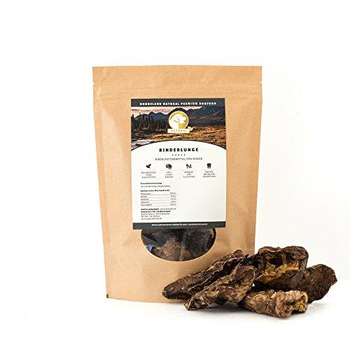 Hundeland Natural | Rinderlunge | 300 g | Naturkausnack | gesunde Belohnung | naturbelassen | schlachtfrische Rohprodukte | sanfte Trocknung