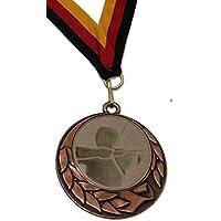 JoGo Medaille Ø70mm Bogenschießen bronzefarben mit Band
