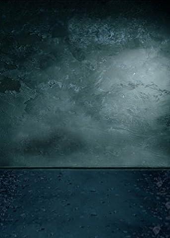 A.Monamour Toile De Fond Tissu Photo Studio Plaine Tachetées Vert Foncé Plancher Mur Vinyle 5X7Ft Cru Murales En Tissu Accessoires Photographie Décors De Studio