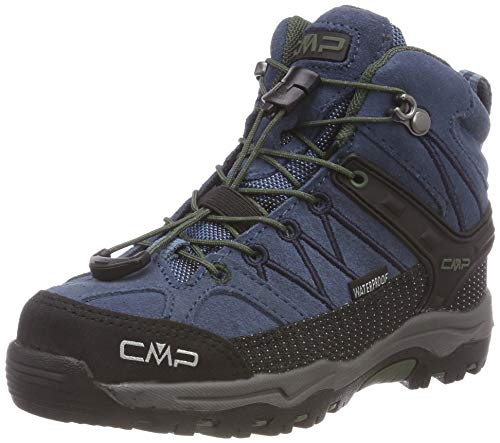 CMP Unisex-Kinder Rigel Mid Trekking-& Wanderstiefel, Blau (Maiolica-Kaky 79bn), 32 EU