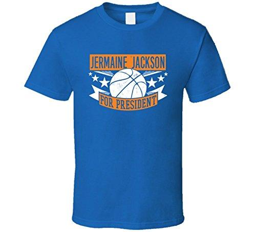 Jermaine Jackson For President New York Basketball Player Sports T Shirt XXXX-L