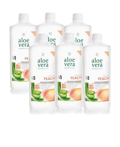 LR Sixpack Aloe Vera Trinkgel Pfirsich Nahrungsergänzung Drinking Gel Peach 6 x 1000 ml