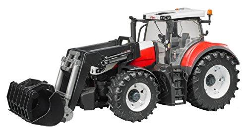 Preisvergleich Produktbild Bruder 03181 - Fahrzeug - Steyr 6300 Terrus CVT mit Frontlader