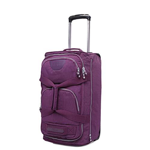 XDD Koffer Gepäck 20 Zoll Rolling Drop Bottom Reisetasche Reisetasche für Männer und Frauen Carry-On Wheeled Lightweight Duffle Rolling Laptop-Tasche für die Reise-Akademie,A -