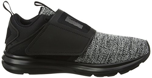 Puma Damen Enzo Strap Knit Outdoor Fitnessschuhe Schwarz (Black-White)