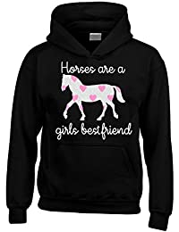 Edward Sinclair Horses Are A Girls Best Friend Hoodie With Sparkling Glitter Print