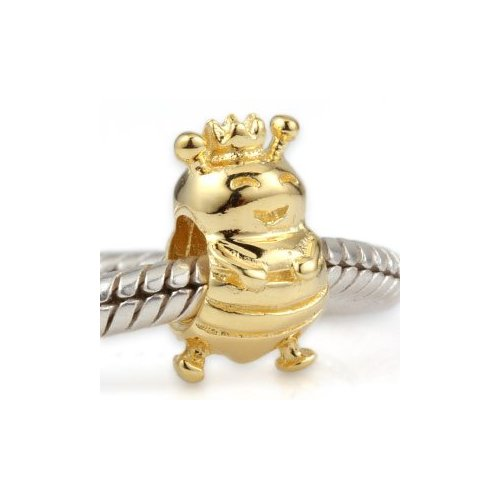 Andante-Stones 925 Sterling Silber Gold Bead Charm
