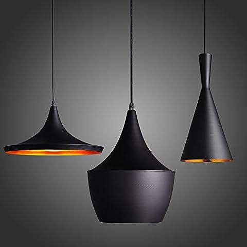 KunMai Modern 3-Light Pendant Light Fixture Multi Suspended Lighting (Rectangle Canopy)