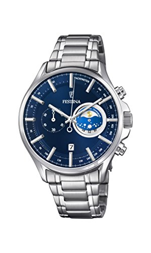 Festina Herren Chronograph Quarz Uhr mit Edelstahl Armband F6852/2