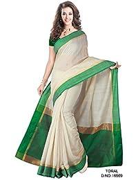 Green And Beige Saree Cotton Saree Charming Designer Saree (Toral/16569)