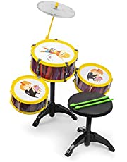 El Figo Kids Jazz Hip Hop Drum Set with Seat (Multicolour)