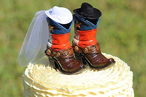 Kuchen-Dekoration Westernstiefel Patriotischer Tex Cowboy-Kuchenaufsatz (Sex Cowboy Homosexuell)