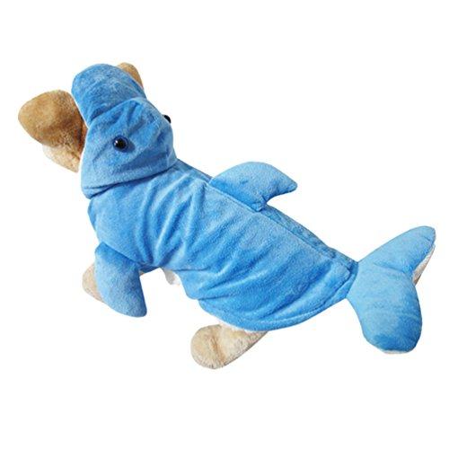 Yuncai Niedlich Stereoskopisch Delphine Haustier Hund Kleidung Lustige Halloween Party Verkleidung Kostüme für Katzen Cosplay Blau (Halloween 3 Kostüme Familie Niedliche)