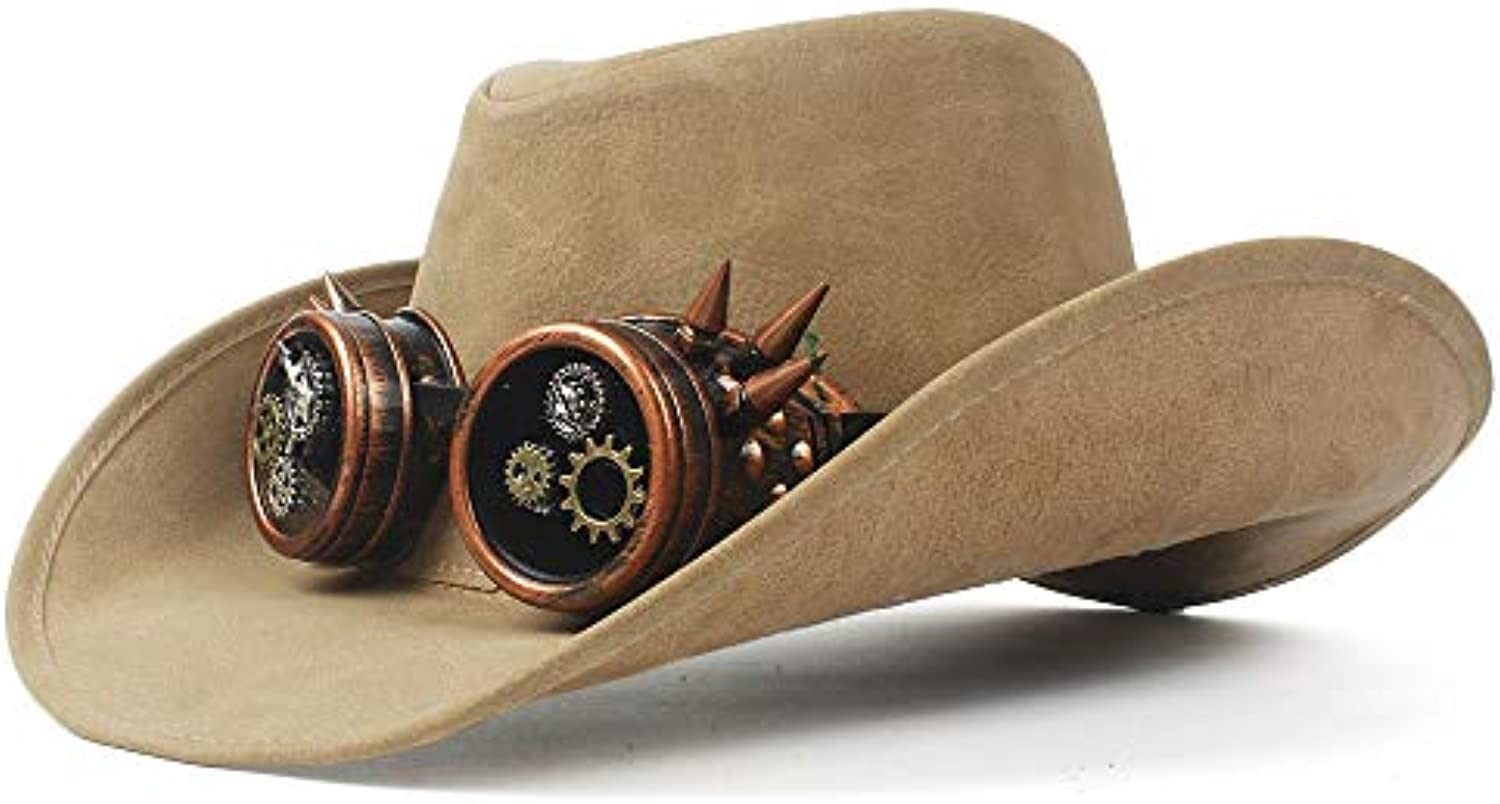 Hat- 2018 New Top Fashion Fashion Western Cappello Bowler da Cowboy Faux  Leather Bowler Cappello Decorazione in Metallo Cappello... Parent 5a4708 d3c857ecbdf4