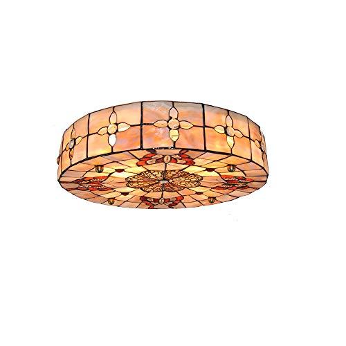 Preisvergleich Produktbild 16 Zoll Schmetterling Deckenleuchte Tiffany Stil Shell Deckenleuchte Befleckt Für Schlafzimmer Wohnzimmer E27 110-240 V