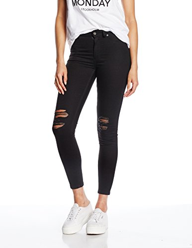 Cheap Monday High Spray Rip  Jeans Femme Noir (Black)