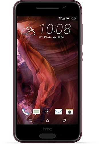 HTC One A9 Smartphone (12,7 cm (5 Zoll) Full HD AMOLED Touchscreen, 16 GB, Android 6.0) rot