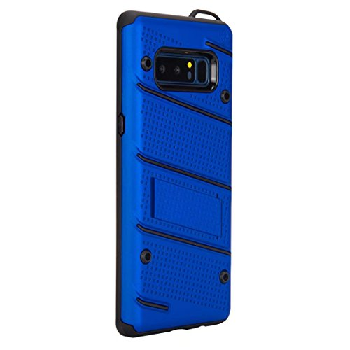 EKINHUI Case Cover Ultra Thin Slim Dual Layer PC + Soft TPU Back Schutzhülle Fall [Shockproof] mit Kickstand für Samsung Galaxy Note 8 ( Color : Gold ) Blue