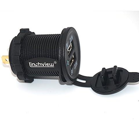 Linchview USB Steckdose 2 Port Einbau Auto RV Boots Motorrad