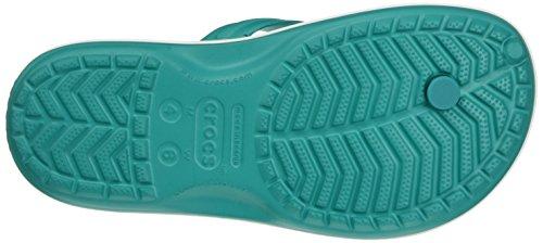 crocs Crocband Flip, Unisex - Erwachsene Zehentrenner, Grün (Tropical Teal-White), 36/37 EU