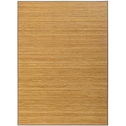 Alfombra marrón de bambú de 180 x 250 cm