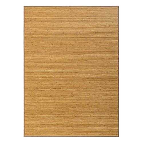 Alfombra Oriental marrón de bambú de 180 x 250 cm